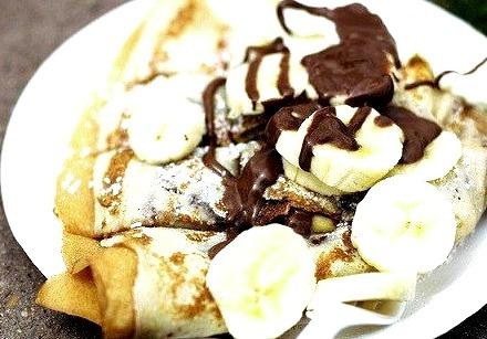Banana, Crepe, Chocolate