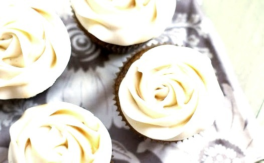 butternut squash cupcakes with maple cream cheese frosting.