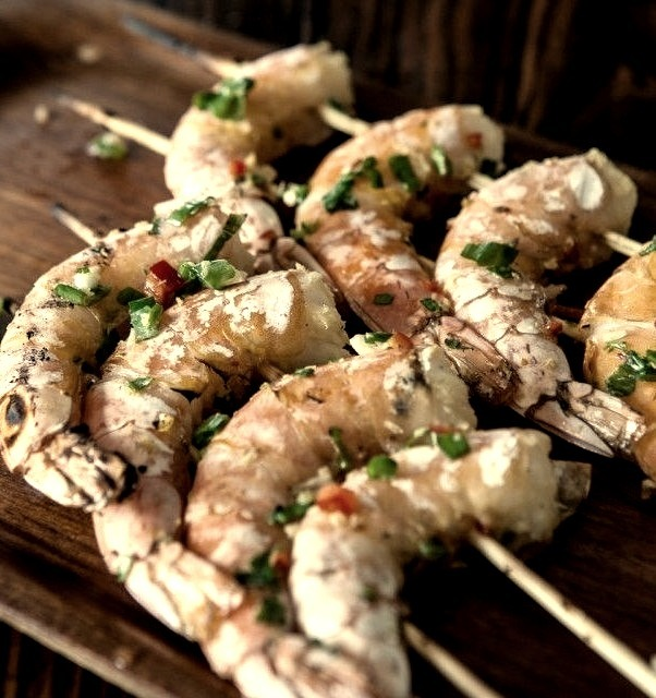 Chinese Grilled Shrimp, via Steamy Kitchen