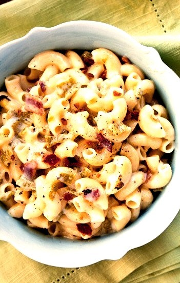Stovetop Mac & Cheese: The Hatch Chile And Bacon Edition