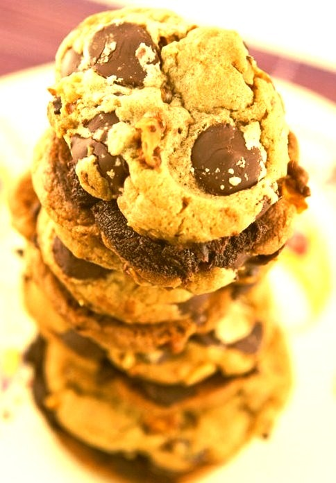 Ganache-Stuffed Chocolate Chip Cookies
