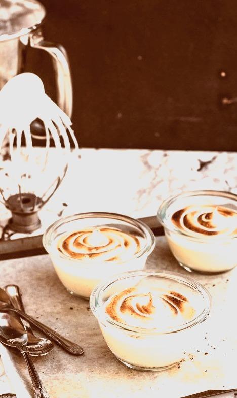 Toasty Marshmallow Honey Panna Cotta The Moonblush Baker