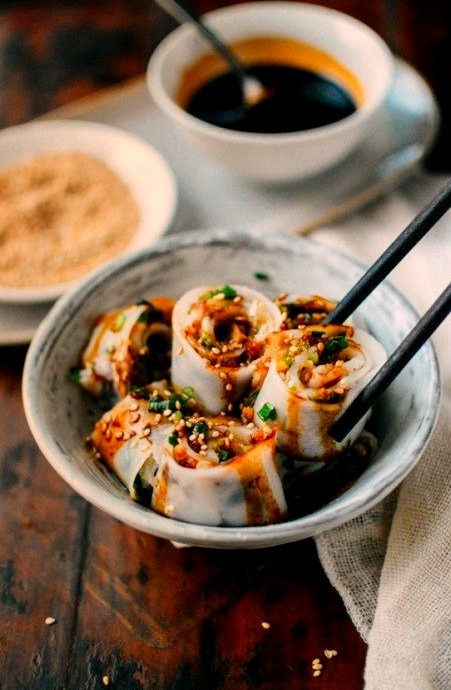A Cheung Fun Recipe (Homemade Rice Noodles), Two WaysSource