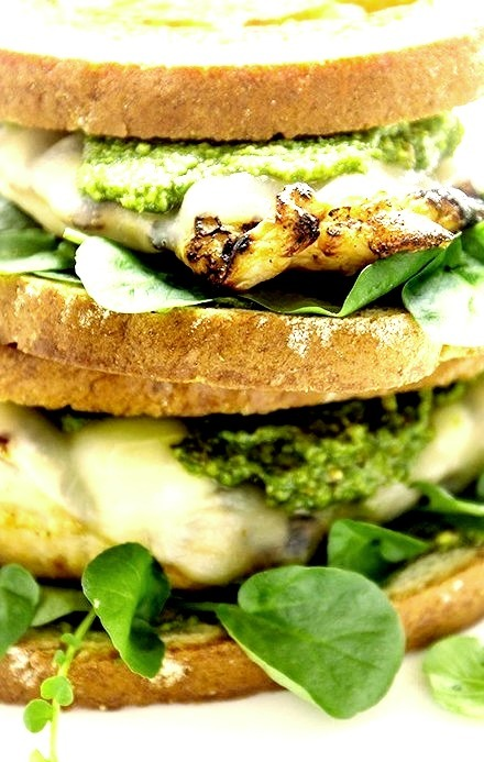 Grilled Chicken Pesto Melt